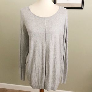 CABI • heather gray pullover sweater oversized M